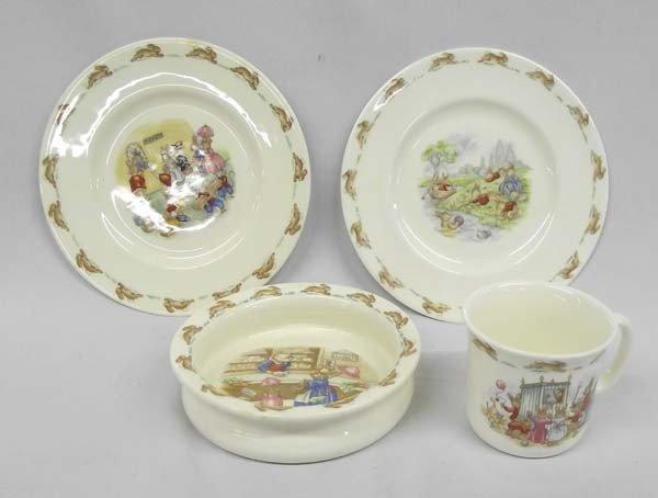4 pcs  Royal Doulton BunnyKins Child's Fine Porcelain