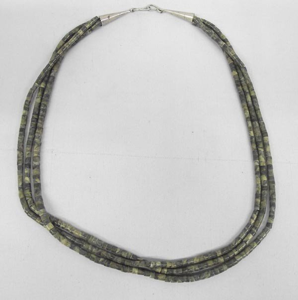 Necklace Three Strand Serpentine Heishi