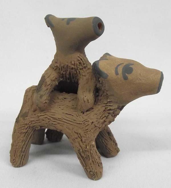 Jemez Pottery Dogs by N Fragua