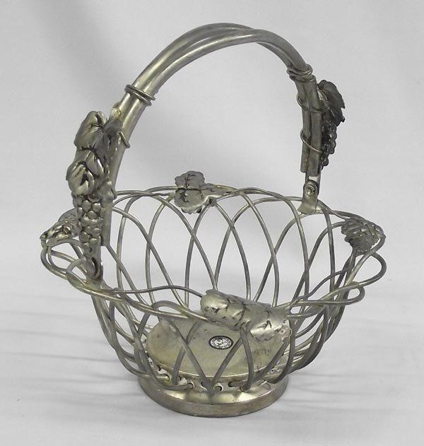 Godinger Silverplate Handled Basket