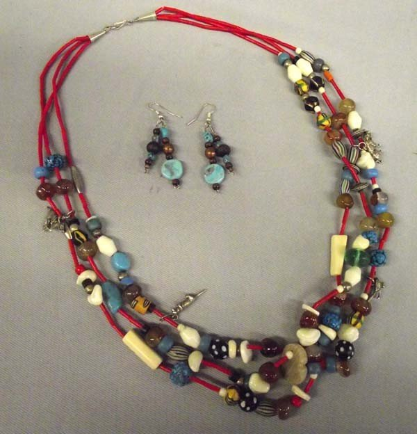 Navajo Mother In Law Necklace & Earrings