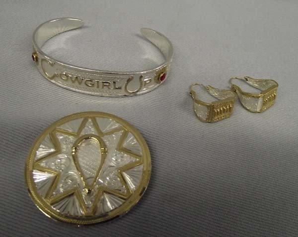 Cowgirl Jewelry Set By Montana Silversmiths