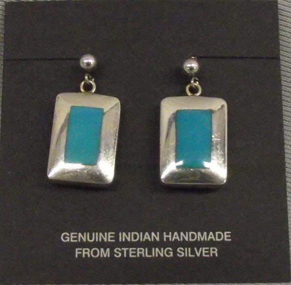 Navajo Sterling Silver & Turquoise Earrings