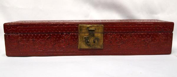 Chinese Painted & Lacquered Wood Storage Box