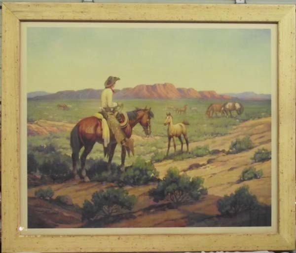 Till Goodan Framed Cowboy Print