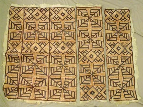 3 Polynesian Tapa Bark Cloth Art