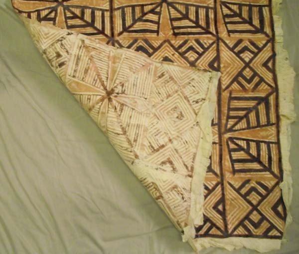 3 Polynesian Tapa Bark Cloth Art - 2