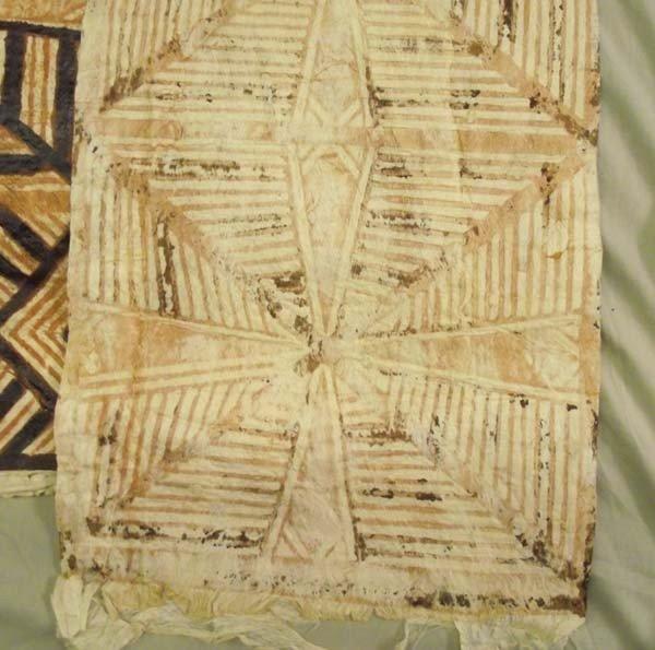 3 Polynesian Tapa Bark Cloth Art - 3