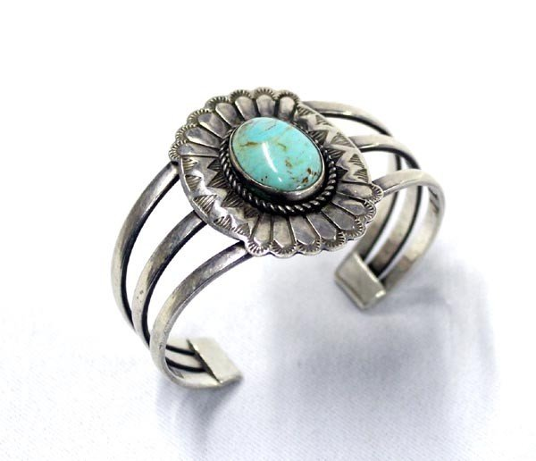 Vintage Navajo Sterling and Turquoise Bracelet