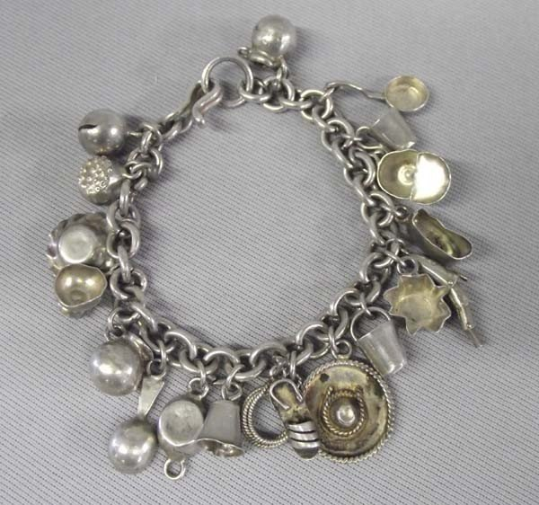 1950 Mexican Sterling Charm Bracelet