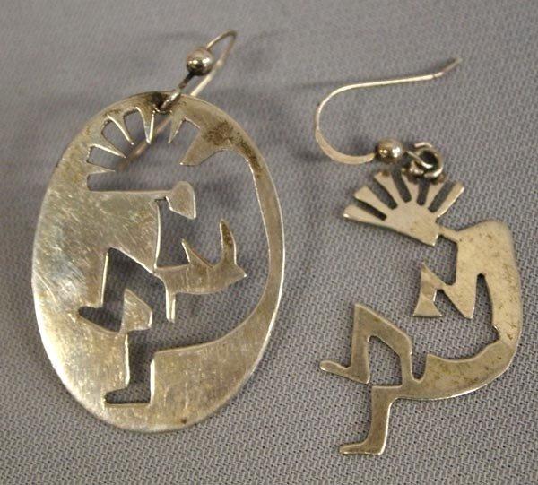 Navajo Sterling Kokopelli Earrings
