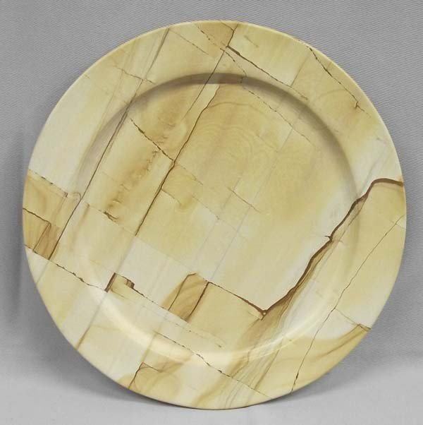 Himalayan Marble Carved Dinner Plate