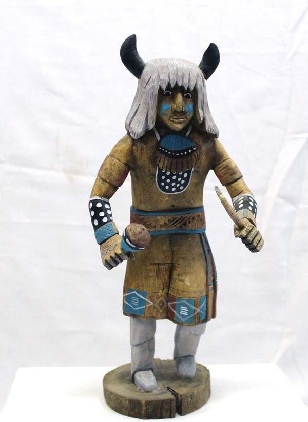 Navajo Buffalo Dancer Kachina - Yaz