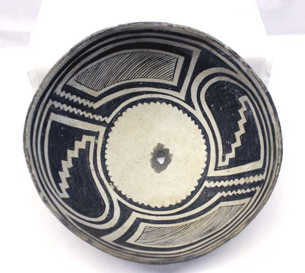 Prehistoric Classic Mimbres Geometric Bowl