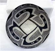 Prehistoric Reserve Black on White Geometric Bowl