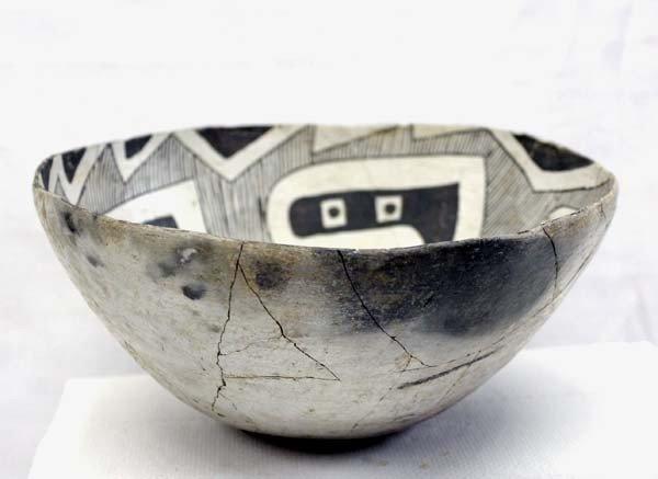 Prehistoric Reserve Black on White Geometric Bowl - 3