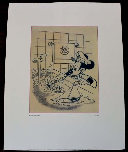 Vintage Disney Mickey Mouse Pencil Sketch Print - 3