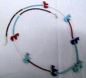 Navajo Horse Fetish Necklace