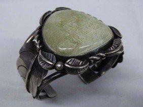 Navajo Sterling Silver Turquoise Bracelet 1960-70