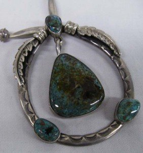 Navajo Nevada Turquoise & Sterling Silver Necklace