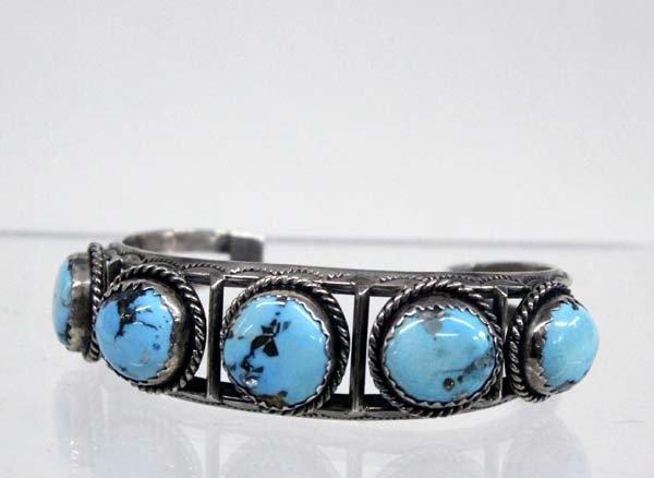 Navajo Sterling Nevada Turquoise Bracelet