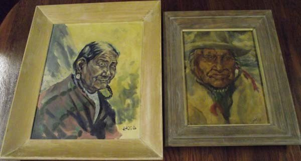 2 Original Oils By Ned Jacobs