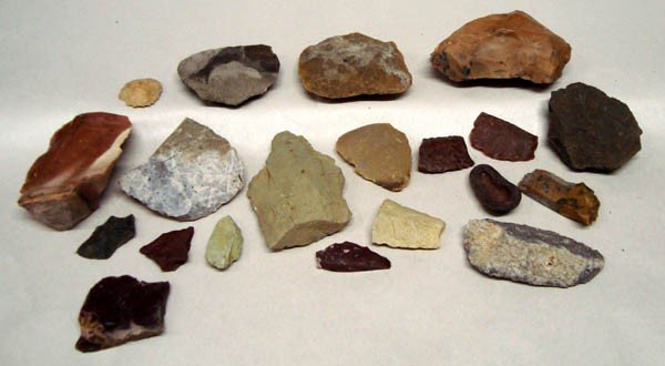 Native American Rock Cutting Tool Collection