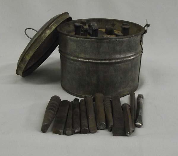 Vintage Navajo Silversmith Tool Set