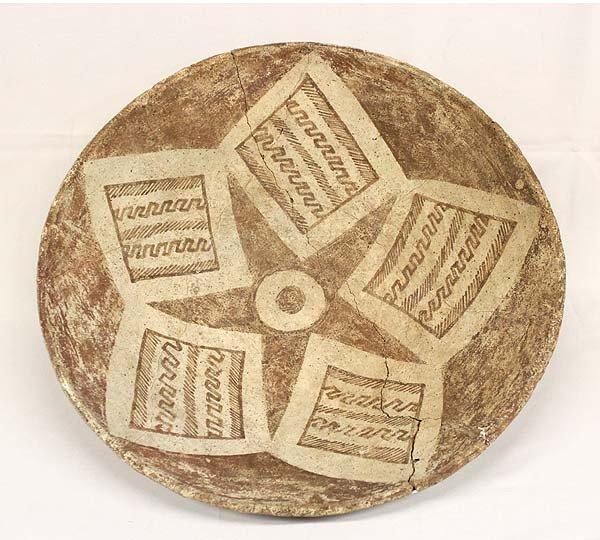 Rare Prehistoric Hohokam Star Plate - 2