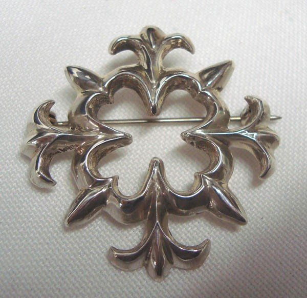 Navajo Sand Cast Sterling Pin