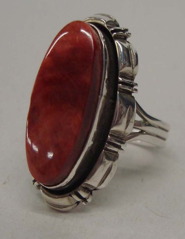 Navajo Sterling Spiny Oyster Ring