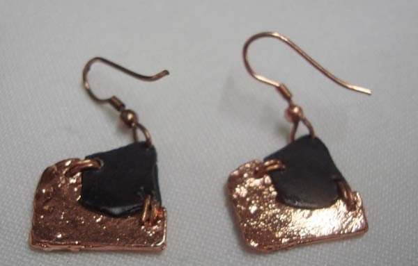Copper French Wire Earrings