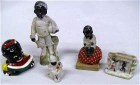 5 Black Americana Figurines