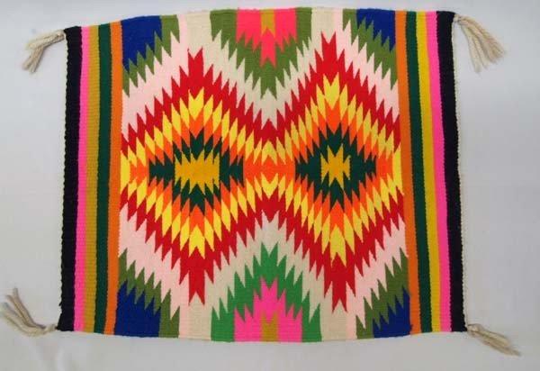 Navajo Teec Nos Pas Serrated Diamond Colorful Rug