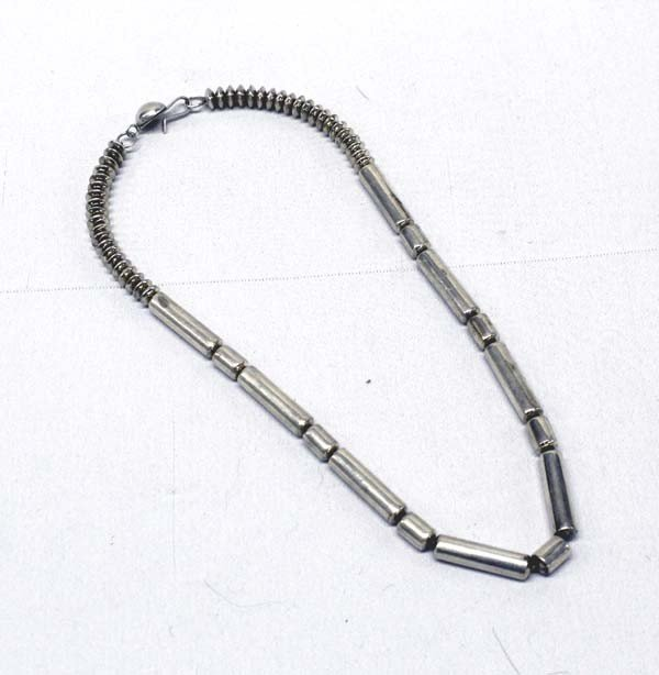 Navajo Sterling Bead Necklace