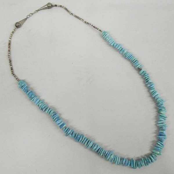 Navajo Turquoise Nugget Heishi Bead Necklace
