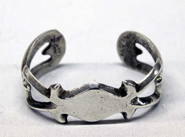 Navajo Sterling Silver Sandcast Bracelet