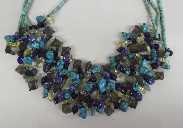 Western Turquoise Crystal Quartz Necklace