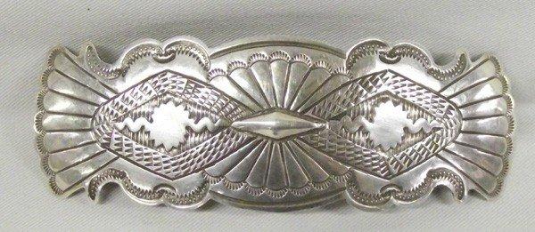 Navajo Sterling Silver Barrette