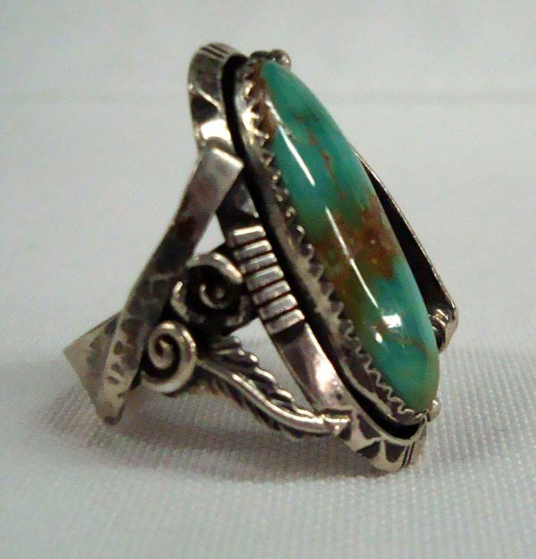 1950s Navajo Sterling Cerrillos Turquoise Ring