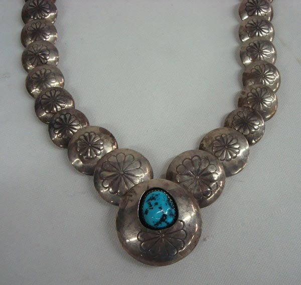 1960s Navajo Sterling Hollow Bead Necklace