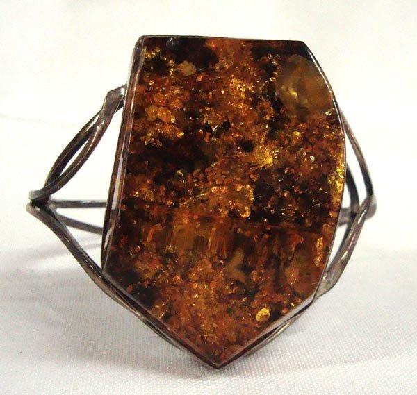 Baltic Amber Sterling Bracelet
