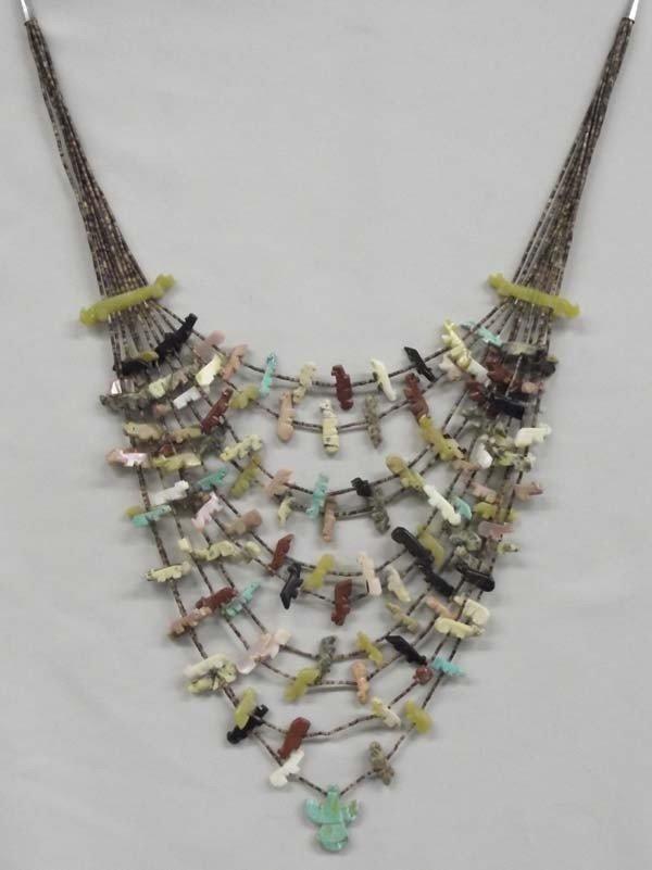 Navajo Ten Strand Fetish Necklace - Johnny Sheyka