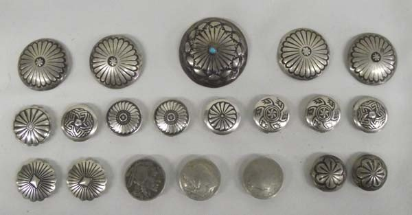 Southwest Sterling Silver Button Covers