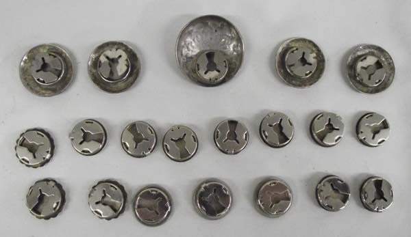 Southwest Sterling Silver Button Covers - 2
