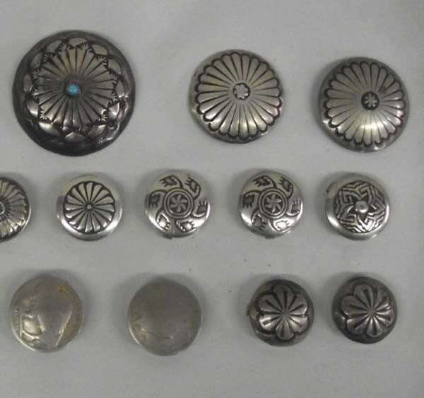 Southwest Sterling Silver Button Covers - 3