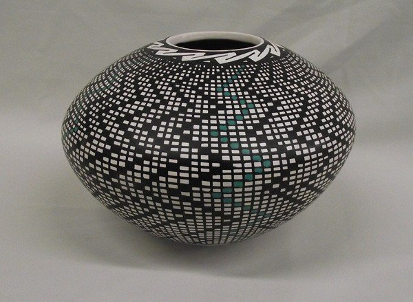 Mata Ortiz Eye Dazzler Pottery Bowl-L Ontiveroo