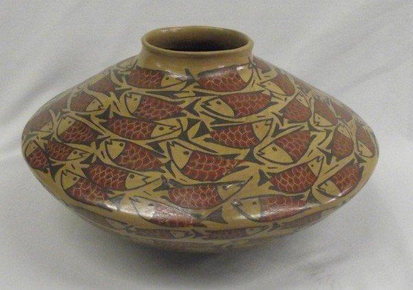 Mata Ortiz Large Fish Pottery - Elda