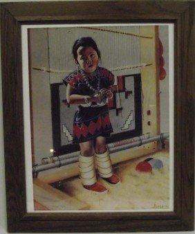 Navajo Framed Signed Print  - Alice Yazzie