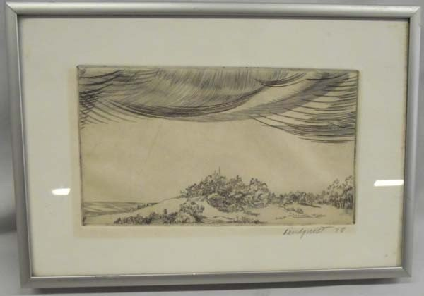 1978 Signed Framed Wood Block Print - Lindquist